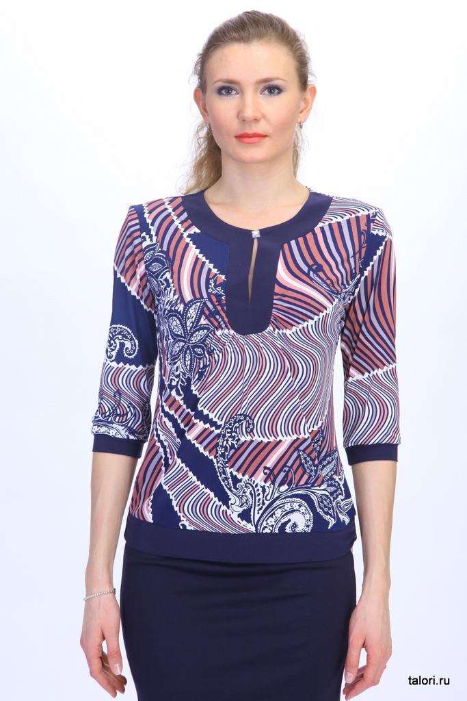 Блуза Грейс. Классическая блуза полуприлегающего силуэта.