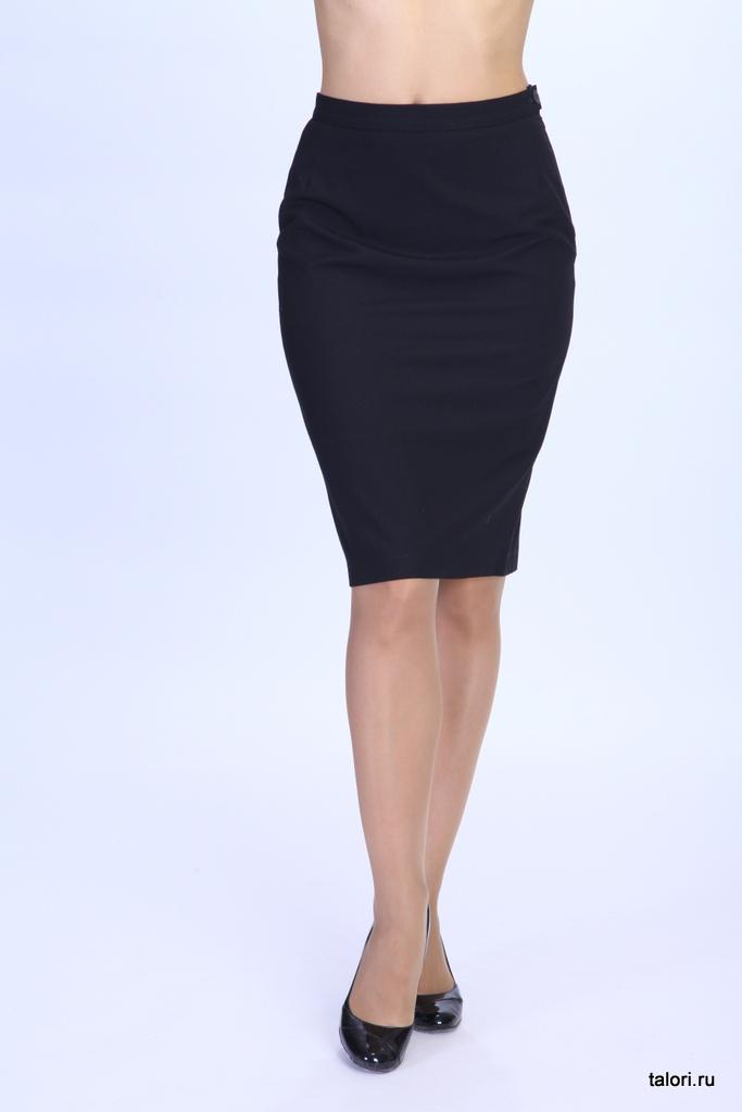Юбка Артикул: Ю-В12   Цвет: черный  Материал: ткань костюмная  Состав ткани: вискоза 70%, полиэстр 30%
