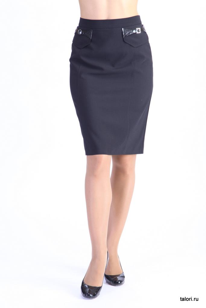 Юбка Артикул: Ю-В14   Цвет: черный  Материал: ткань костюмная  Состав ткани: вискоза 70%, полиэстр 30%