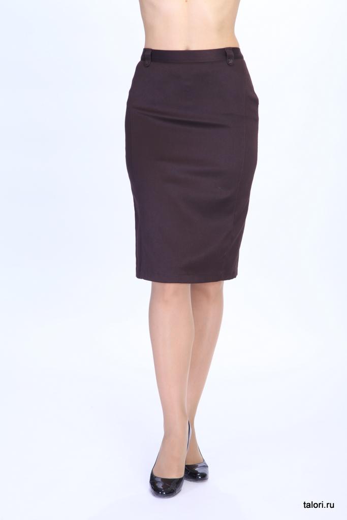 Юбка Артикул: Ю-В16   Цвет: коричневый  Материал: ткань костюмная  Состав ткани: вискоза 70%, полиэстр 30%